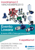 Invito all'evento LOWARA del 18/11/2013.
